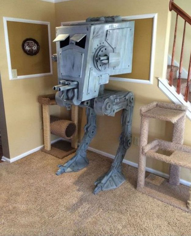 Guy Builds Iconic AT ST Star Wars Cat House