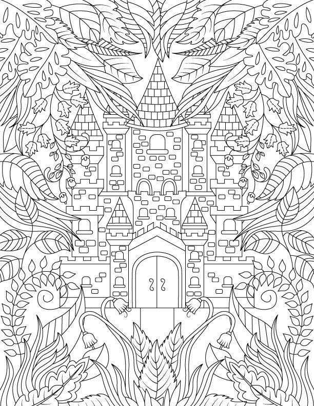 adult coloring book magical forest by
