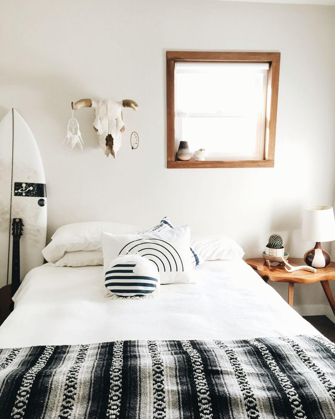 Black Colour Bedroom Off White Bedroom Curtains Bedroom Chandeliers Pottery Barn Small Bedroom Lighting Ideas: THE WHITECAP: Black, Grey & White Mexican Blanket