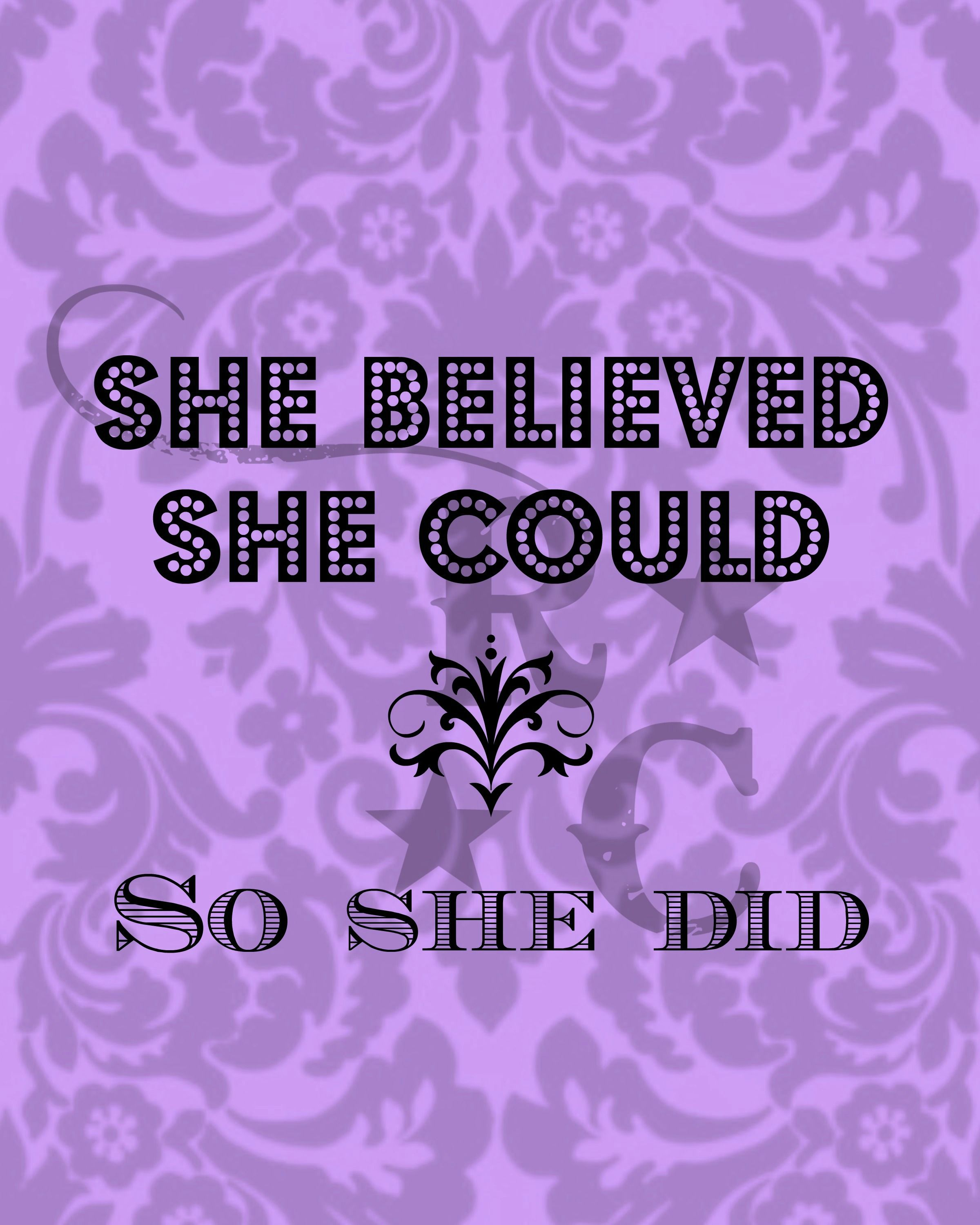 8 X 10 print #little #girls #bedroom #decor She believed she could so she did