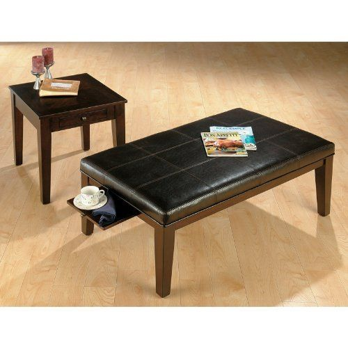 Jofran Espresso Cocktail Table With 2 End Tables By Jofran Inc 463 49 Transitional Style This Product Rectangular Ottoman Accessories For The Home Ottoman Jofran living room cocktail table