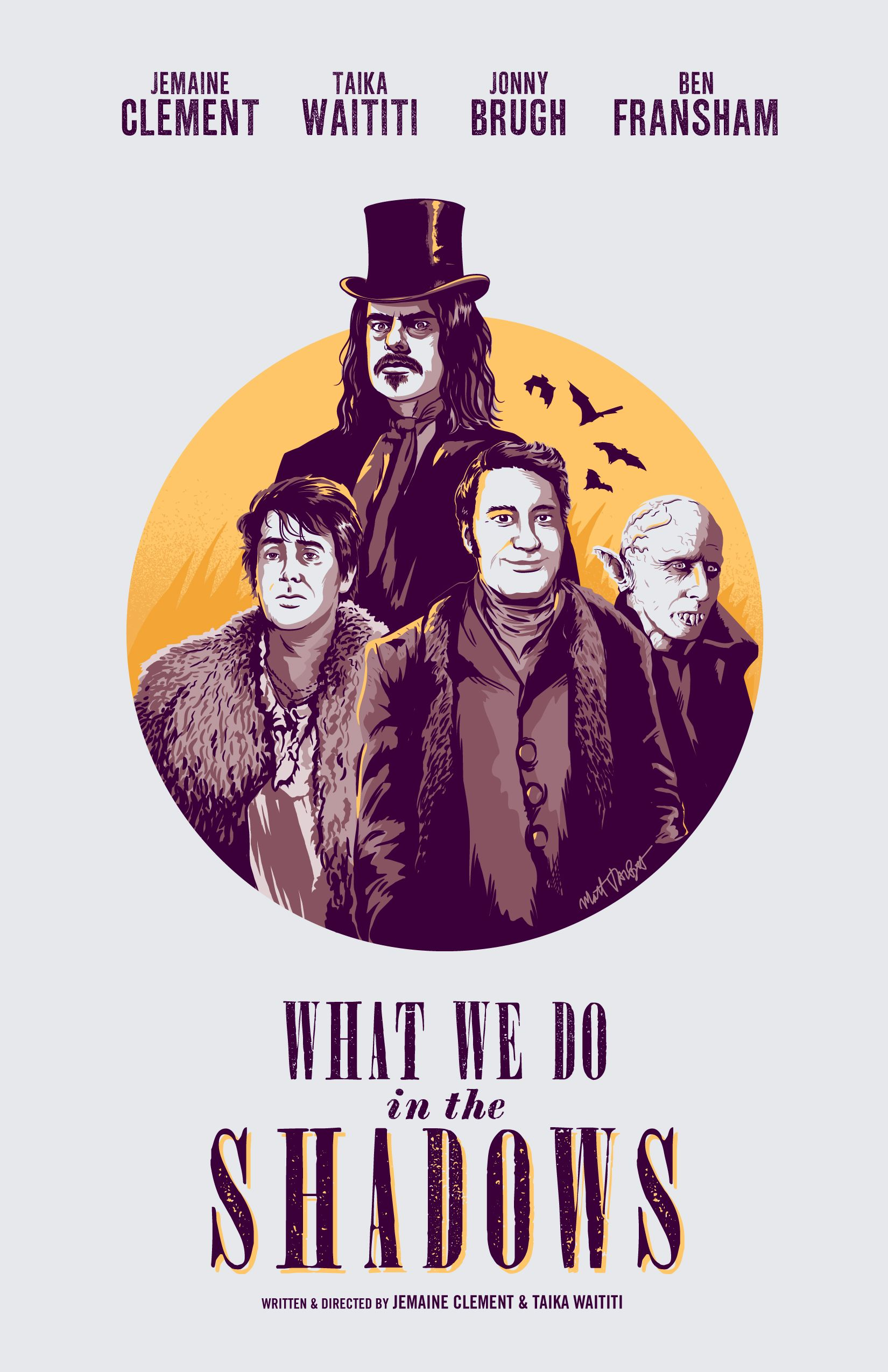 What We Do In The Shadows poster by Matt Talbot Shadow