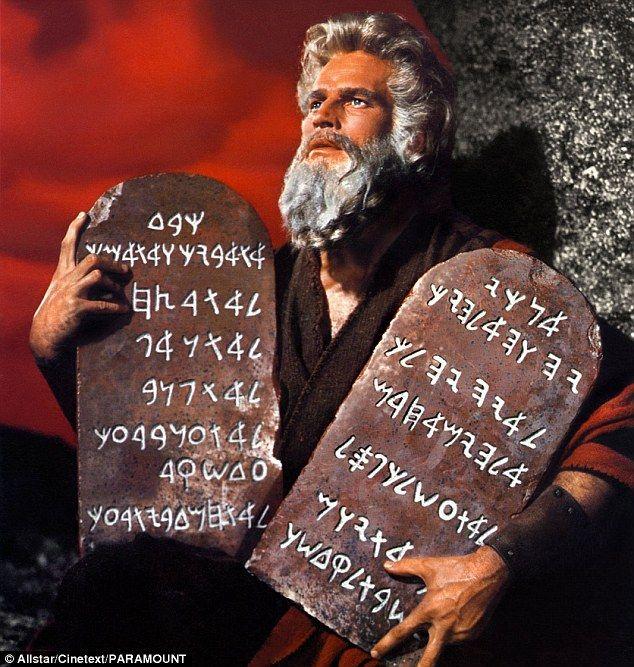 Moses Ten Commandments Movie Concept art showing Ch...