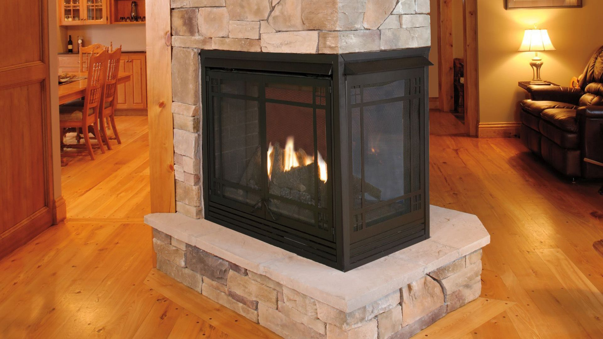 Resemblance Of 3 Sided Gas Fireplace Unique And Elegant Room