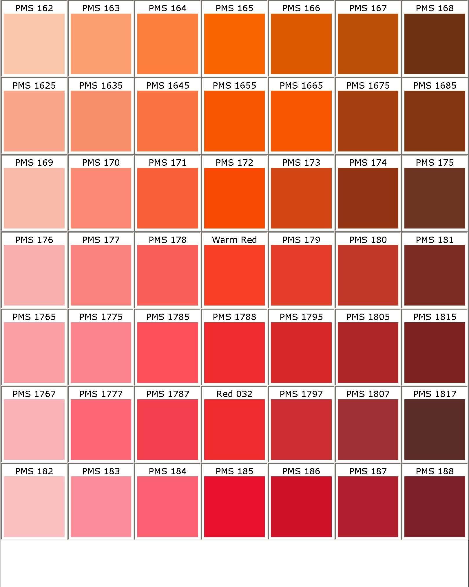 PrintablePantoneColorChartjpeg 500 480 hair colors – Sample Pantone Color Chart