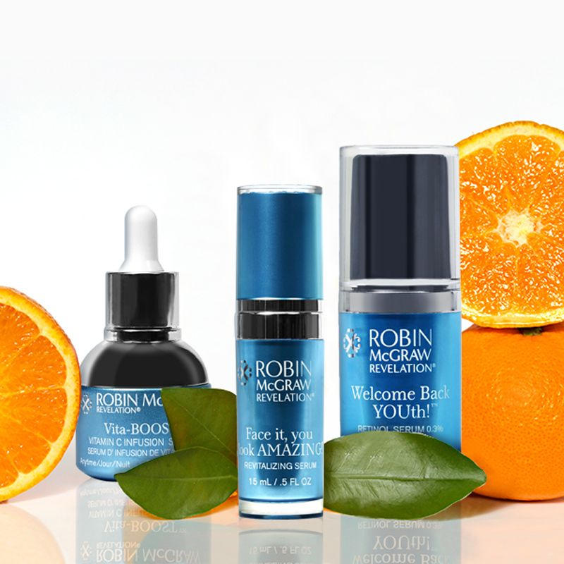 When It Comes To Anti Aging There Are Two Ingredients That Take The Cake Vitamin C And Retinol Get R Revitalizing Serum Retinol Serum Younger Looking Skin