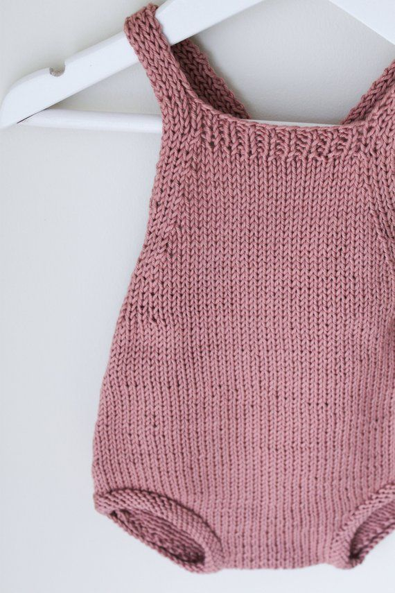 Baby Romper Pdf Knitting Pattern Sammy Sunsuit Knitted