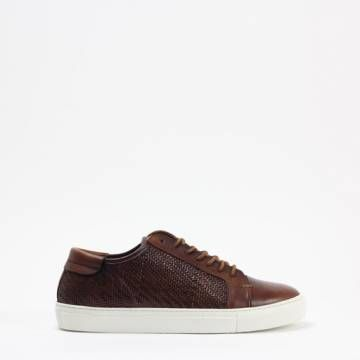 7538 Vaqueta Woven Brown Leather