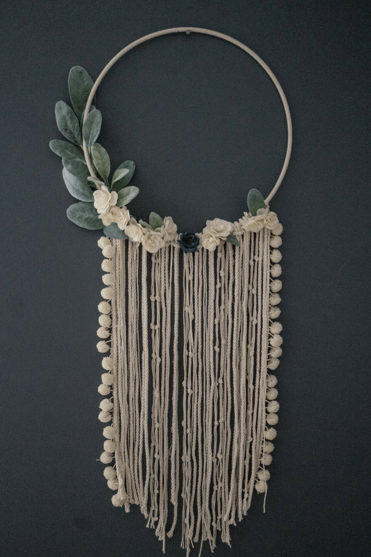 DIY Floral Wall Hanging Dreamcatcher images