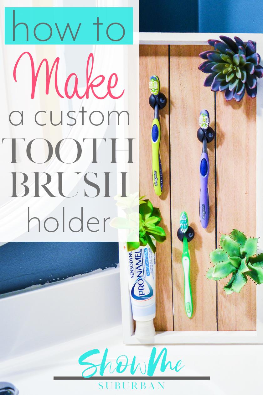 How To Make A Decorative Toothbrush Storage Unit Showme Suburban Diy Bathroom Storage Diy Toothbrush Toothbrush Storage