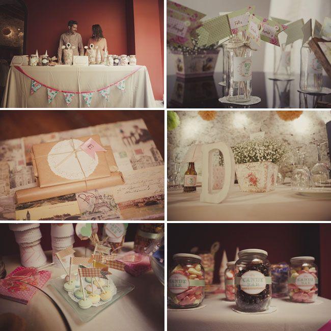 Decoraci n detalles boda handmade banderines mesa dulces - Detalles decoracion boda ...