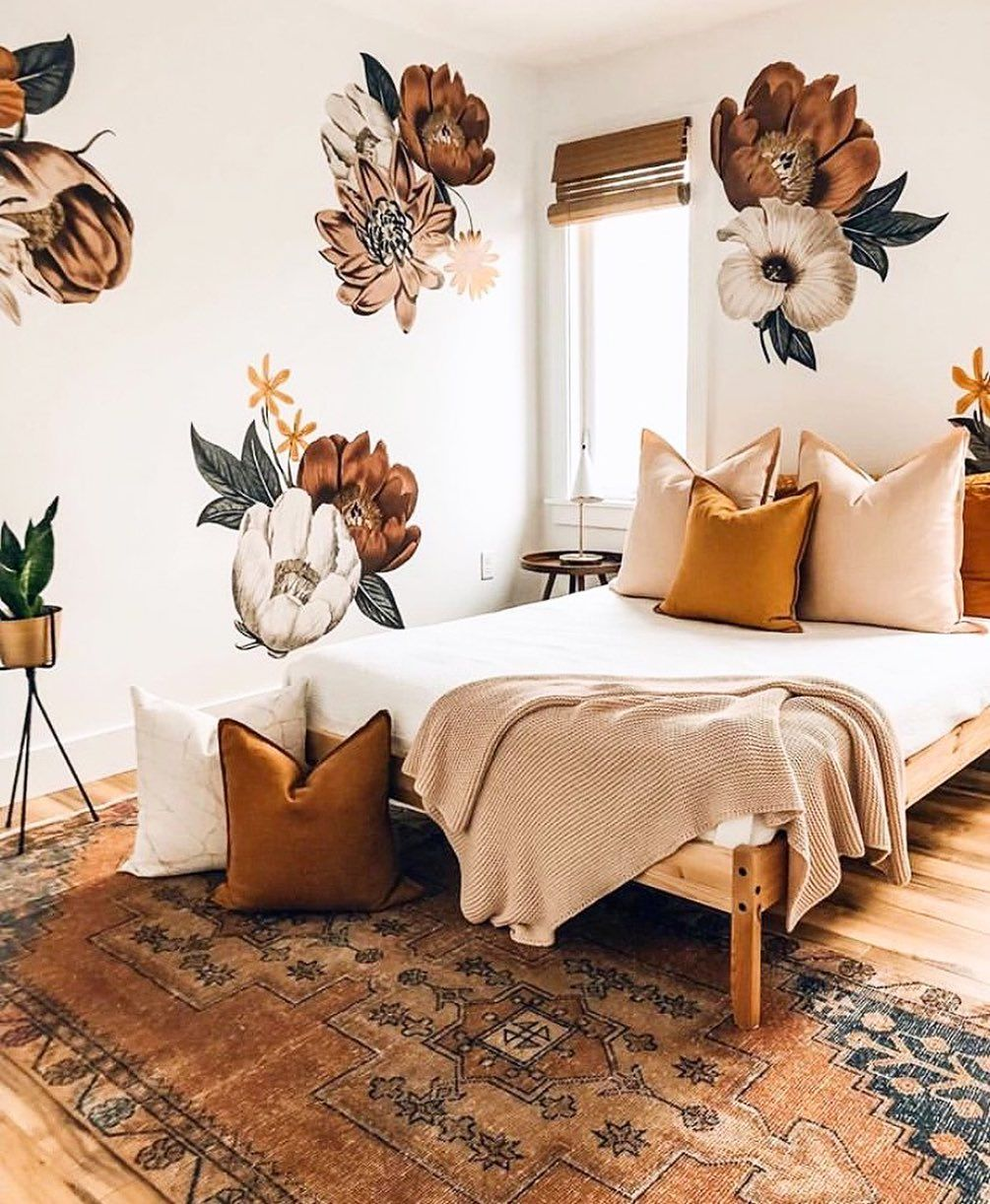 Lonny On Instagram We Have A Bit Of A Thing For Earthy Tones Right Now How Gorgeous Is This Bold Wallpapered Bed Bohemian Bedroom Decor Home Decor Home Cool bedroom ideas lonny