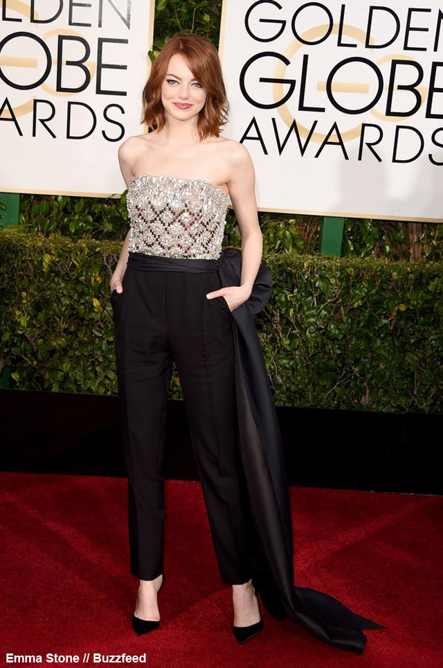 NewYorkDress Blog // Top 10 Fashion Favorites From the #GoldenGlobes // Click through for more! // Photo: Emma Stone