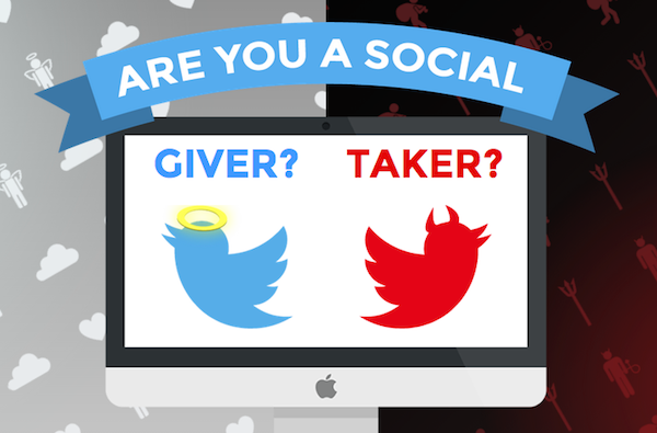 tool for analysing your Twitter: Are You A Twitter Giver Or Taker?