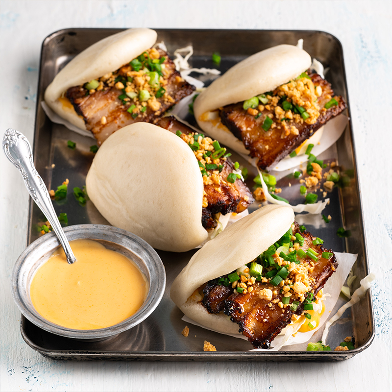 Red Cooked Pork Belly Bao Marion S Kitchen In 2020 Pork Belly Bao Pork Belly Food