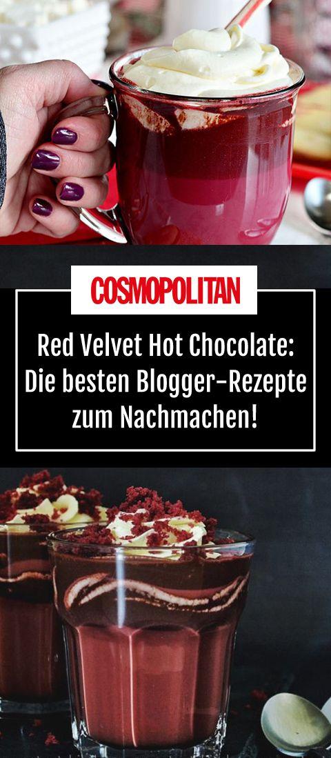 red velvet hot chocolate hei e schokolade mal anders cook pinterest getr nke einfacher. Black Bedroom Furniture Sets. Home Design Ideas