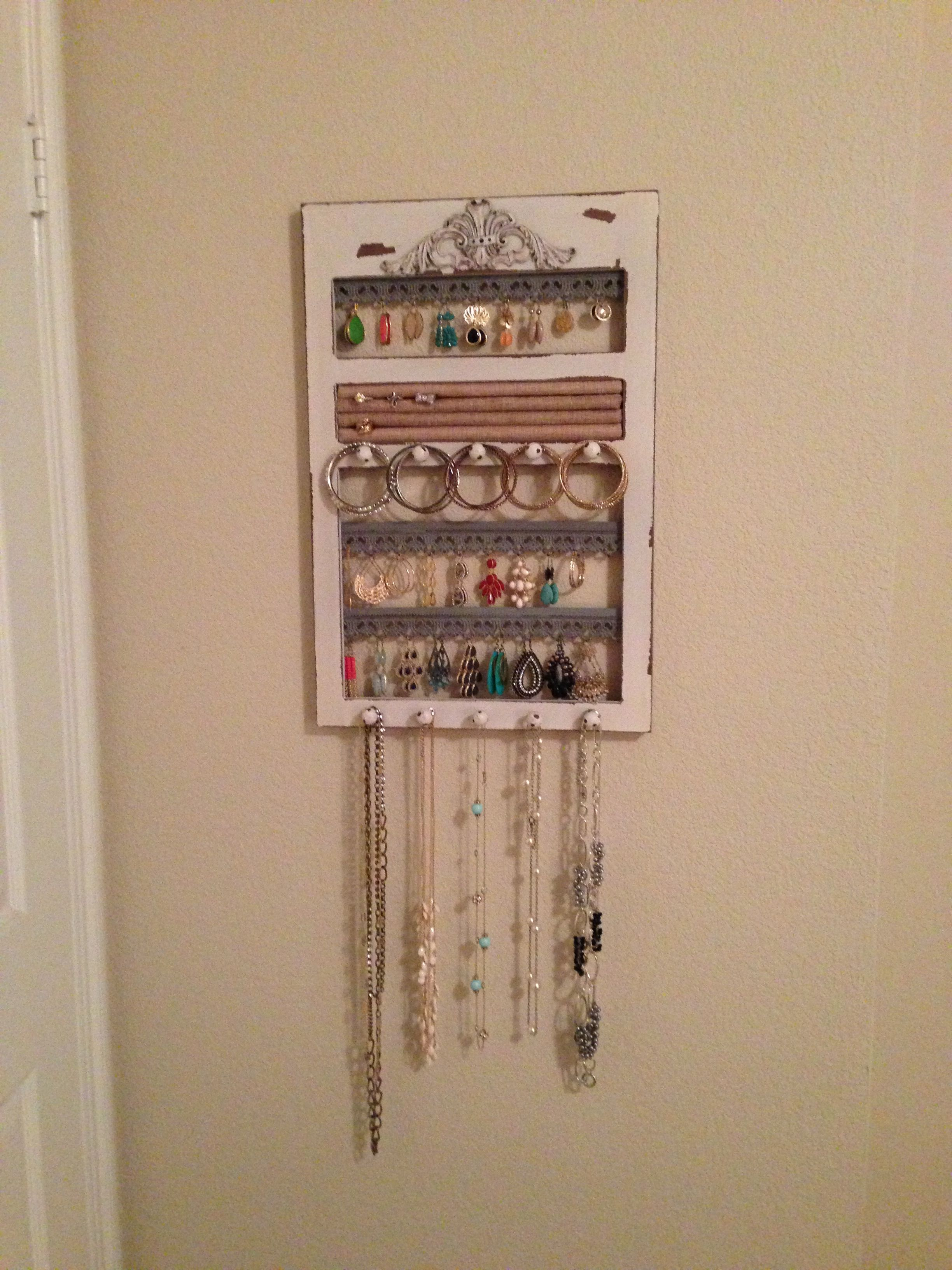 Jewelry organizer from Hobby Lobby Organization Pinterest