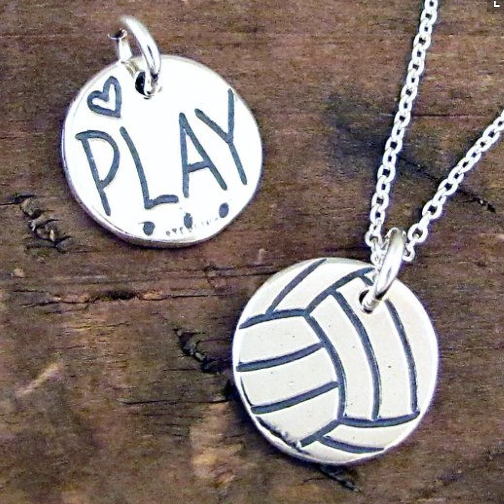 Love Play Volleyball Necklace Girls Volleyball Necklace Volleyball Jewelry Play Volleyball