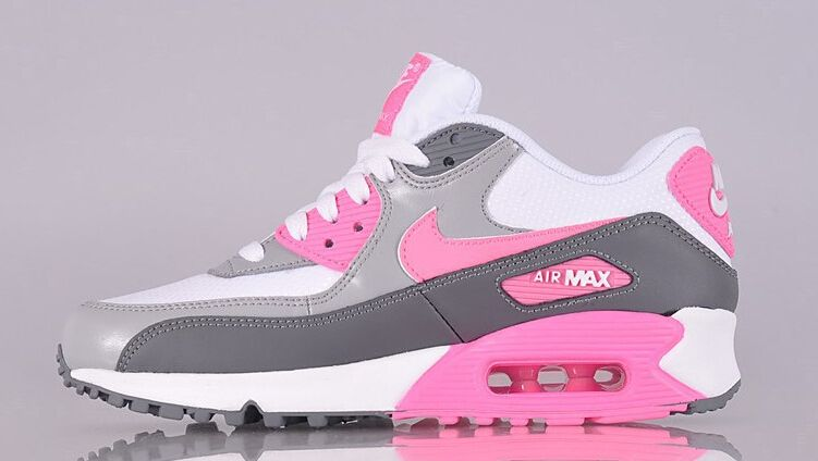 Nike Air Max 90 Essential White Pink Glow Cool Grey Wolf