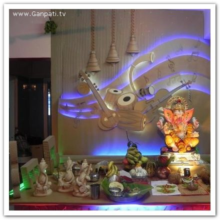 Decoration 1 Music Theme Ganapati Deco Pinterest Decoration Diy Ideas And Craft