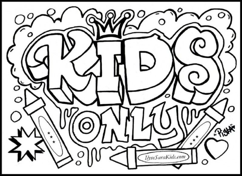 Graffiti Coloring Pages Teen Girls | Coloring Pages | Pinterest ...