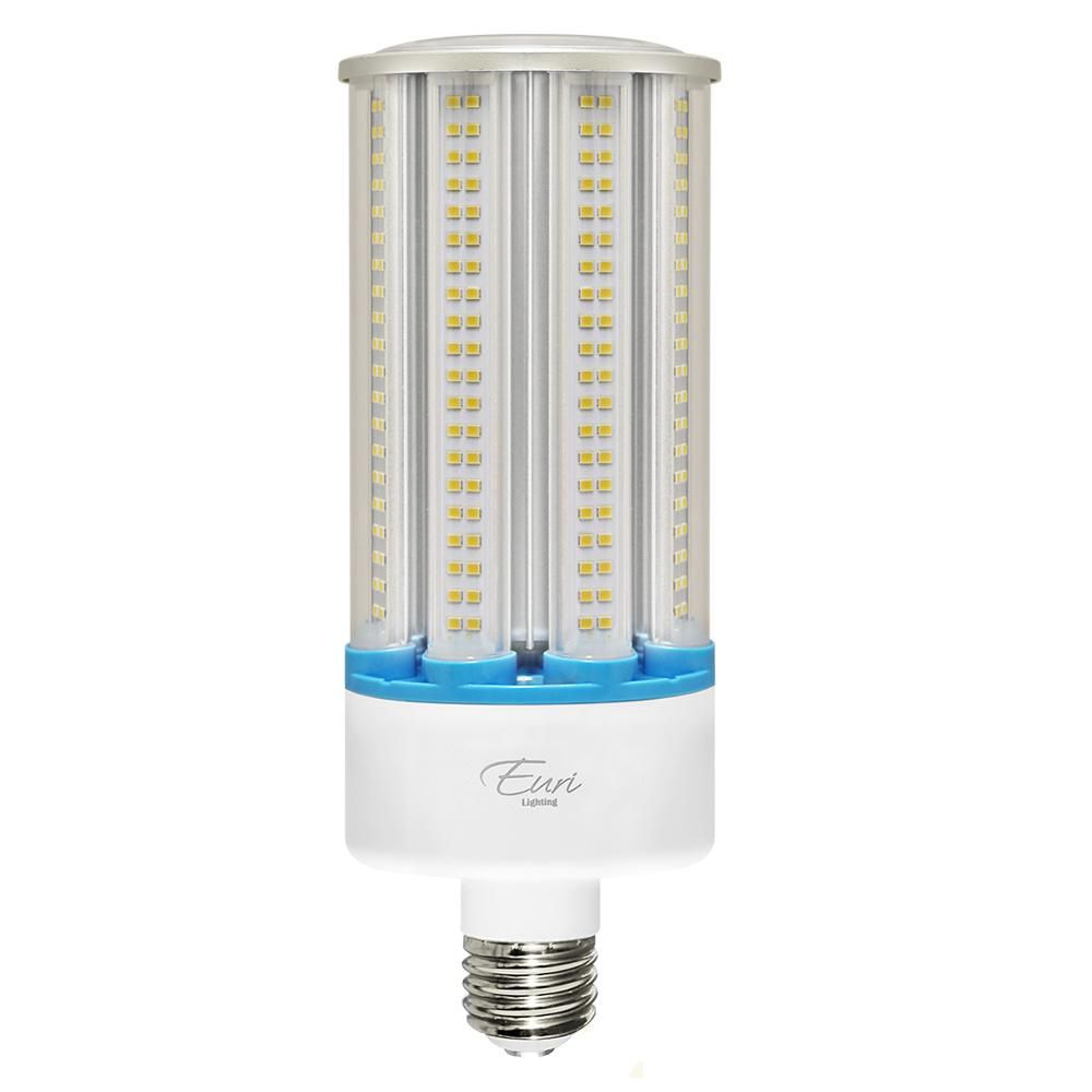 Euri Lighting Corn Bulb 200 Watt White Integrated Led High Bay Ecb54w 1150 The Home Depot Bulb Outdoor Light Bulbs Incandescent Light Bulb
