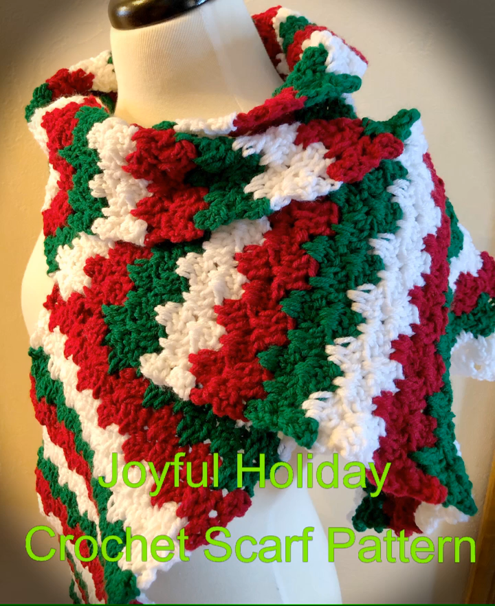 Photo of Joyful Holiday Crochet Scarf Pattern