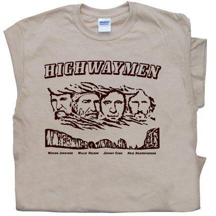 Highwaymen T Shirt Johnny Cash Willie Nelson Waylon Jennings Country Rock  Tee Shirtmandude T Shirts 2aaa6c7e7658
