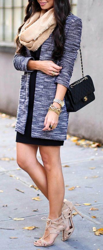 Harlowe & Graham jacket // Cynthia Steffe dress // Halogen scarf // Aquazzura heels