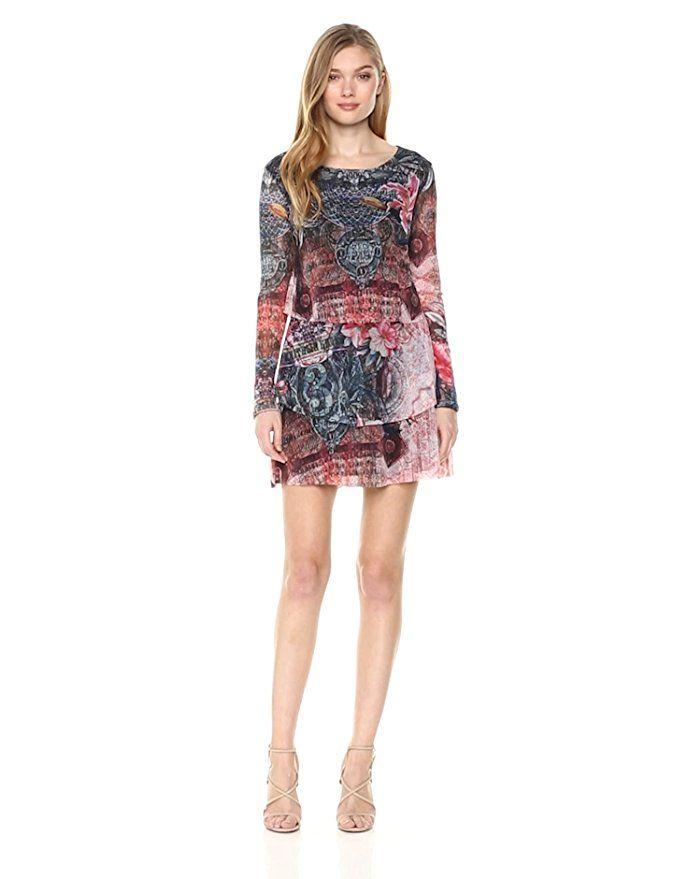 Moment Long Sleeve One Desigual Women's DressNegroXsClothes hdQsCrt