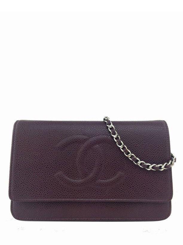 96411219c87b Chanel Timeless Wallet on Chain WOC Caviar Leather Crossbody Bag Burgundy