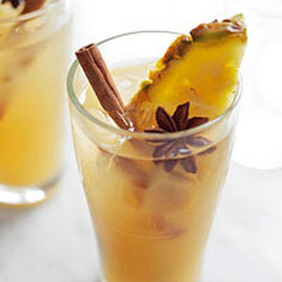 Mulled Cider and Pineapple Cocktail @keyingredient