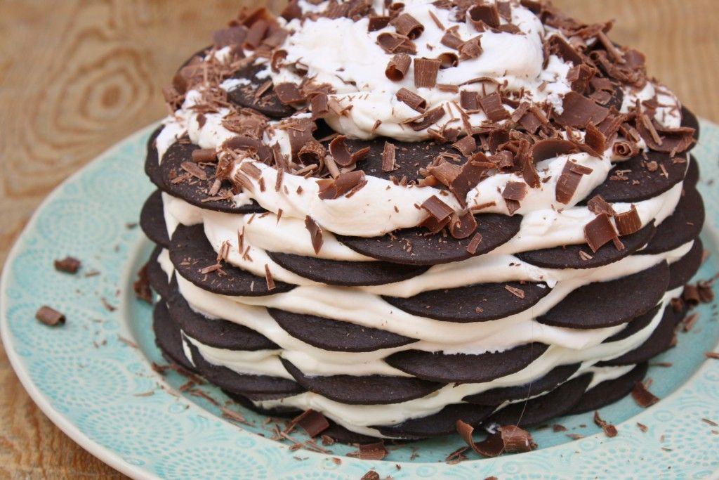 ice box cake - when it is too hot to run that oven on.