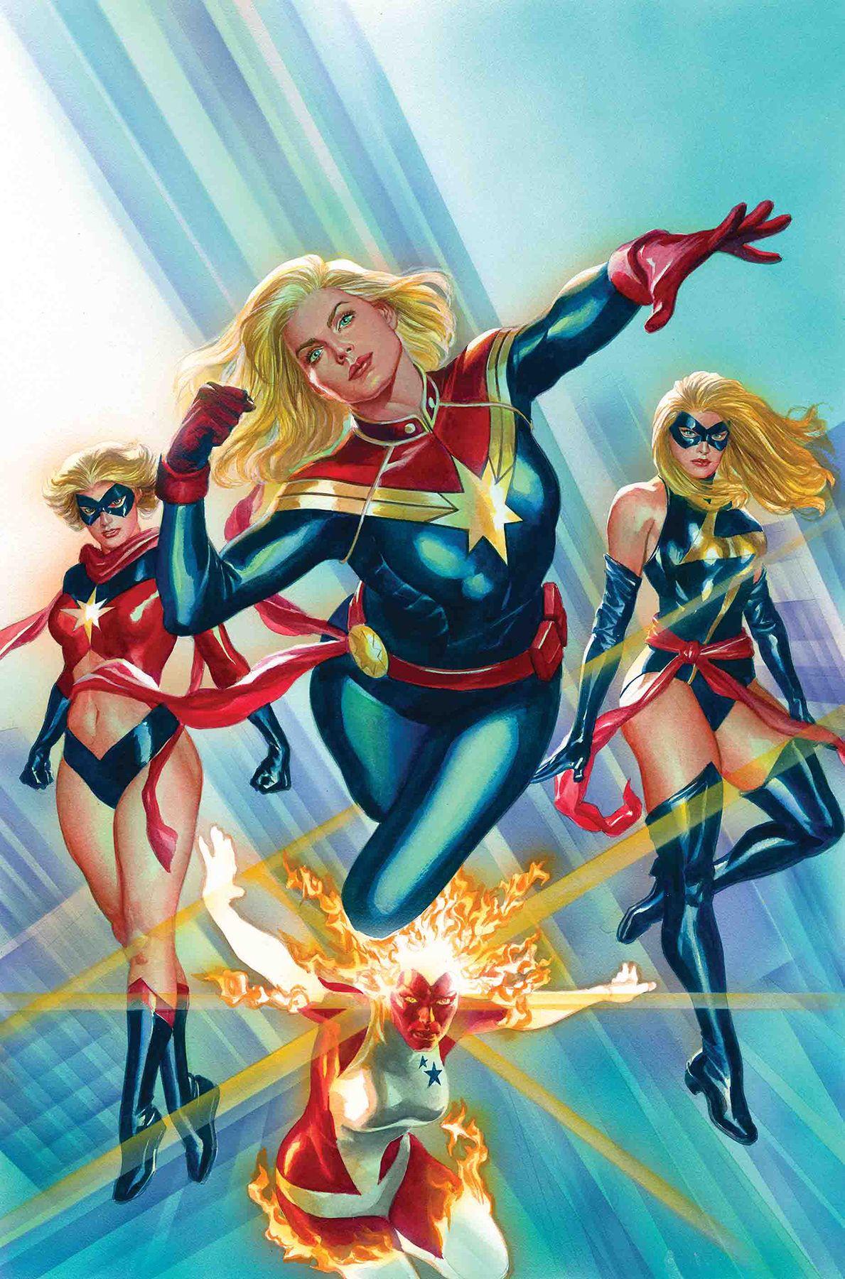Captain Marvel #1 Alex Ross Variant Cover | Ms marvel captain marvel, Marvel  universe characters, Marvel comics art