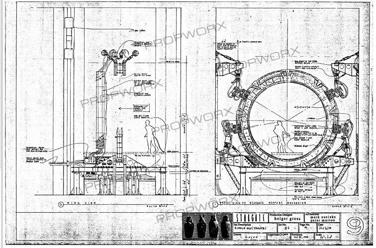 Stargate Blueprints Sci Fi Stargate Stargate