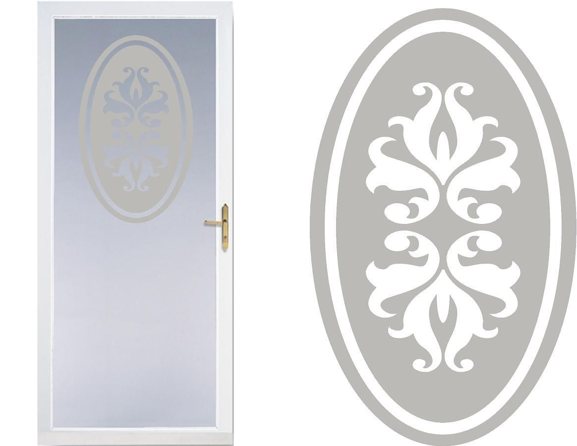 MIRRORS DECAL FOR PATIO DOOR//WINDOWS ETCHED GLASS VINYL FLOWERS SHOWERS