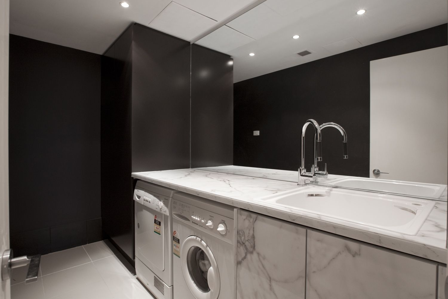 Brisbane laundry renovations laundry design ideas ine bathrooms - Laundry Room Featuring Formica In Calacatta Marble Use Formica As An Affordable Alternative To Marble