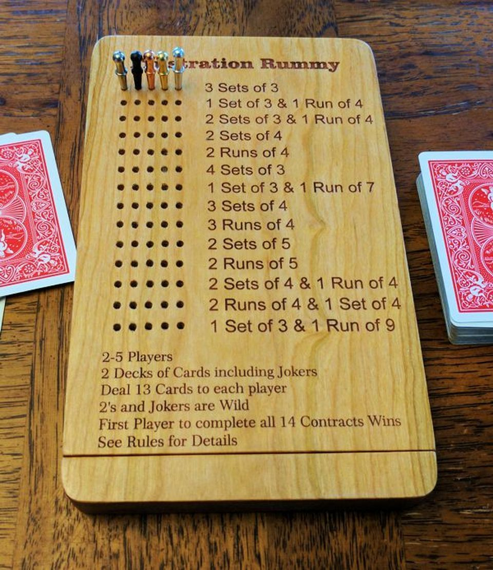 Frustration rummy with close storage in 2020