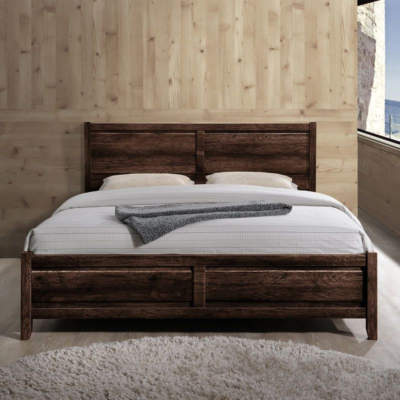 Alice Queen Size Modern Bed Frame in Wenge Tone | Buy New Arrivals ...