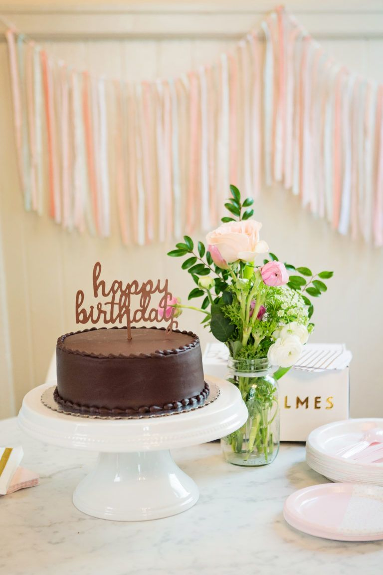 A Sweet Blush And Gold First Birthday Simple Birthday
