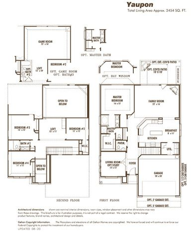 Gehan Homes Yaupon Floor Plan Home Builders New Homes Home