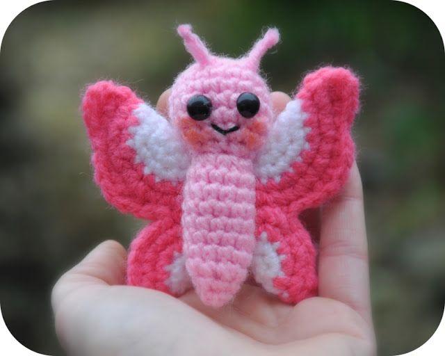 Grietjekarwietje: Amigurumi haakpatroon Flo het vlindertje