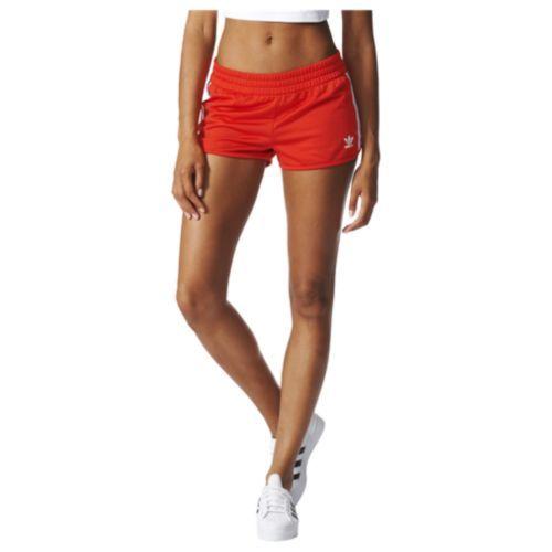 Adidas Originals Trefoil Regular Shorts Women S Womens Shorts Red Adidas Red Shorts