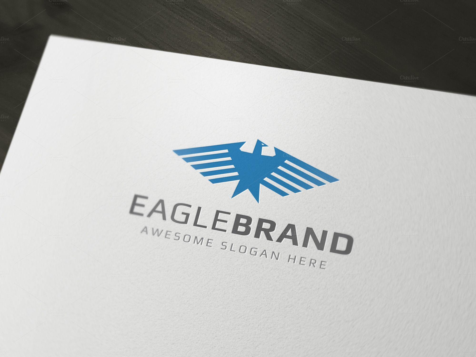 EagleBrand Logo Template by Mahamudul H. on Creative Market
