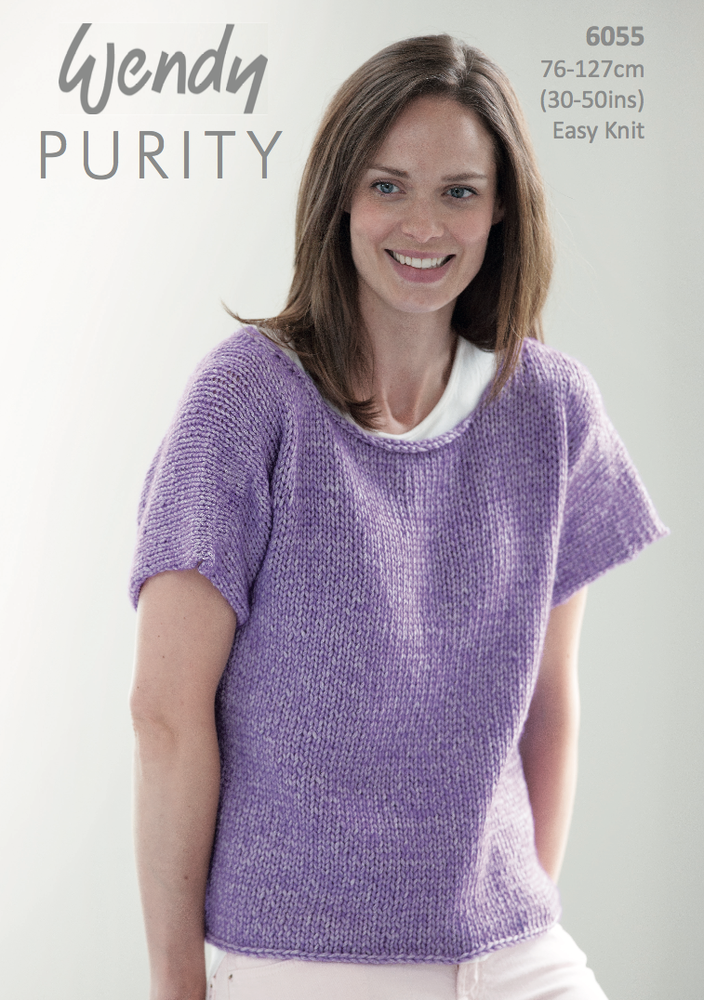 Wendy Purity Easy Tee Knitting Pattern Pdf Knitting Addicts