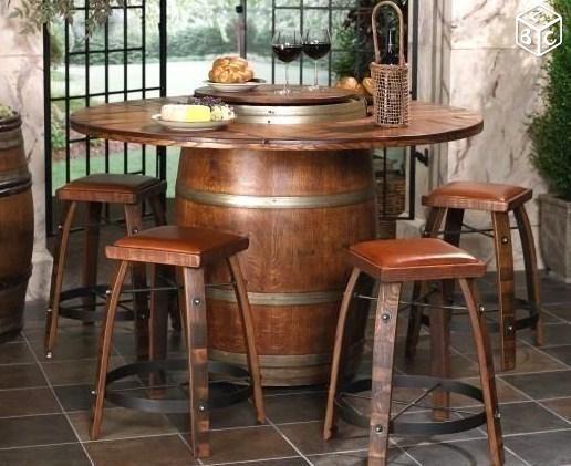 tonneau barrique en bois table de tonneau de vin tonneau bois table baril