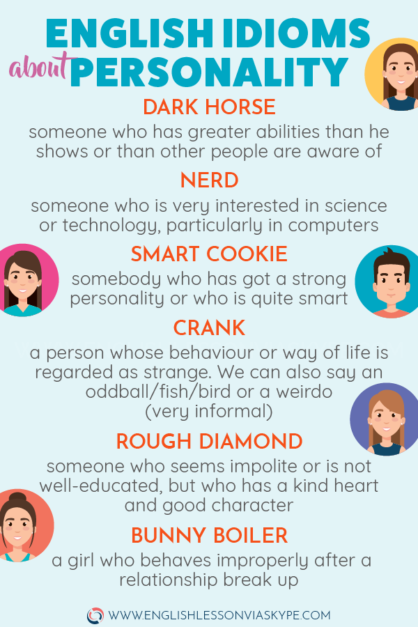 30 English Idioms Describing Character and Personality – Effortless English