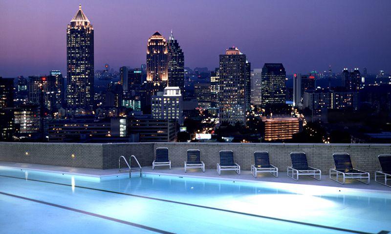 Atlanta Insiders Blog Rooftop Pool Atlanta Skyline Georgian Terrace