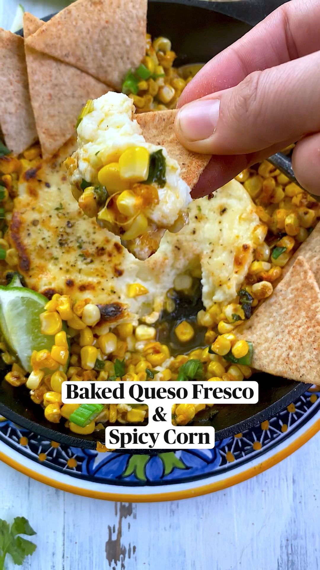 Baked Queso Fresco & Spicy Corn