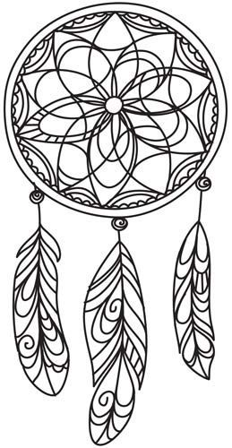 Delicate Dreamcatcher design UTH4898 from UrbanThreadscom 472